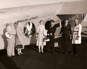 People near American Airways Tri-motor
