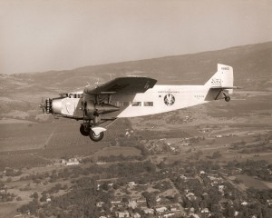 American Airways tri-motor in flight